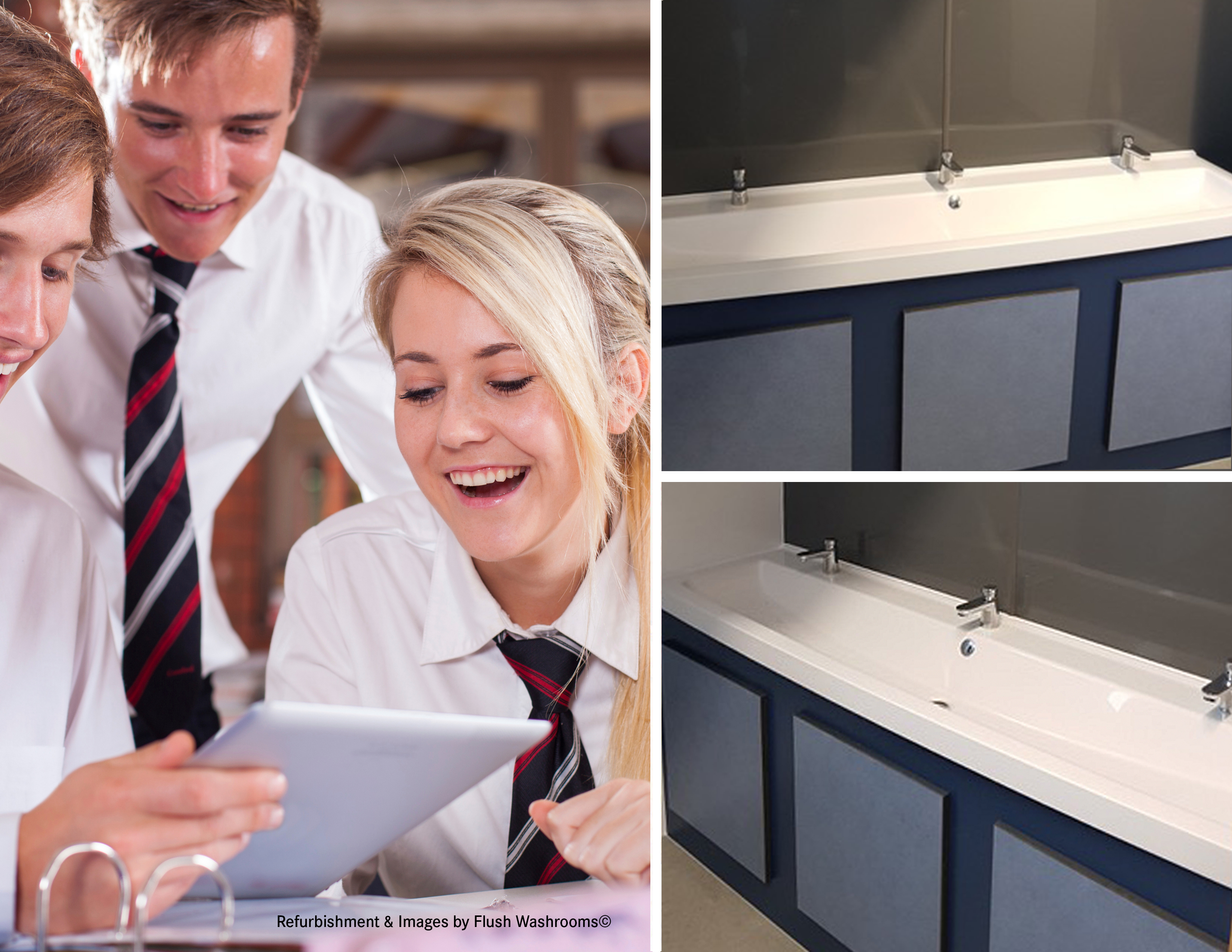 Franke supply washtroughs to Halcross Academy in Doncaster for washroom revamp