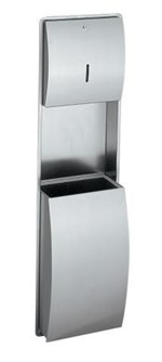 Combination Paper Towel Dispenser and Waste Bin