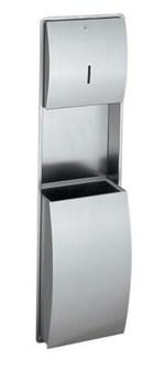 Combination Paper Towel Dispenser and Waste Bin STRX602E