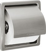 Stratos STRX673E recessed single toilet roll holder