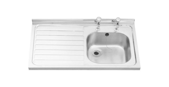 600 mm wide sit-on sinks grade 304 stainless steel