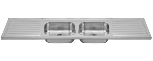 G N Double bowl and double drainer sink Franke