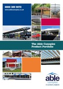 Able Canopies Product Portfolio