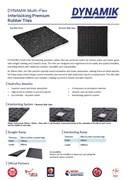 Dynamik Gym-Flex Rubber Gym Tiles