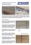 Internal Sports Wall Panels - Solid & Perforated