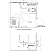 Concept Freedom Ensuite Bathroom Pack with 60cm Basin & Extended Wall Hung WC