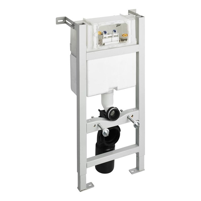 In-wall System for WC 880mm, Mechanical Top Or Front Flushplate