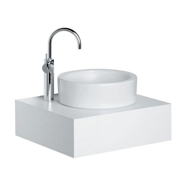 White Round 40cm Vessel Washbasin