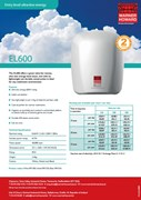 EL600 Ultra Low Energy Hand Dryer