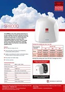 SR800Q Warner Howard hand dryer spec sheet
