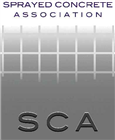 Sprayed Concrete Association (SCA) logo.