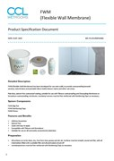 FWM (Flexible Wall Membrane) - Product Specification