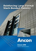 Reinforcing Large Format Stack-Bonded Masonry - Ancon AMR Masonry Reinforcement