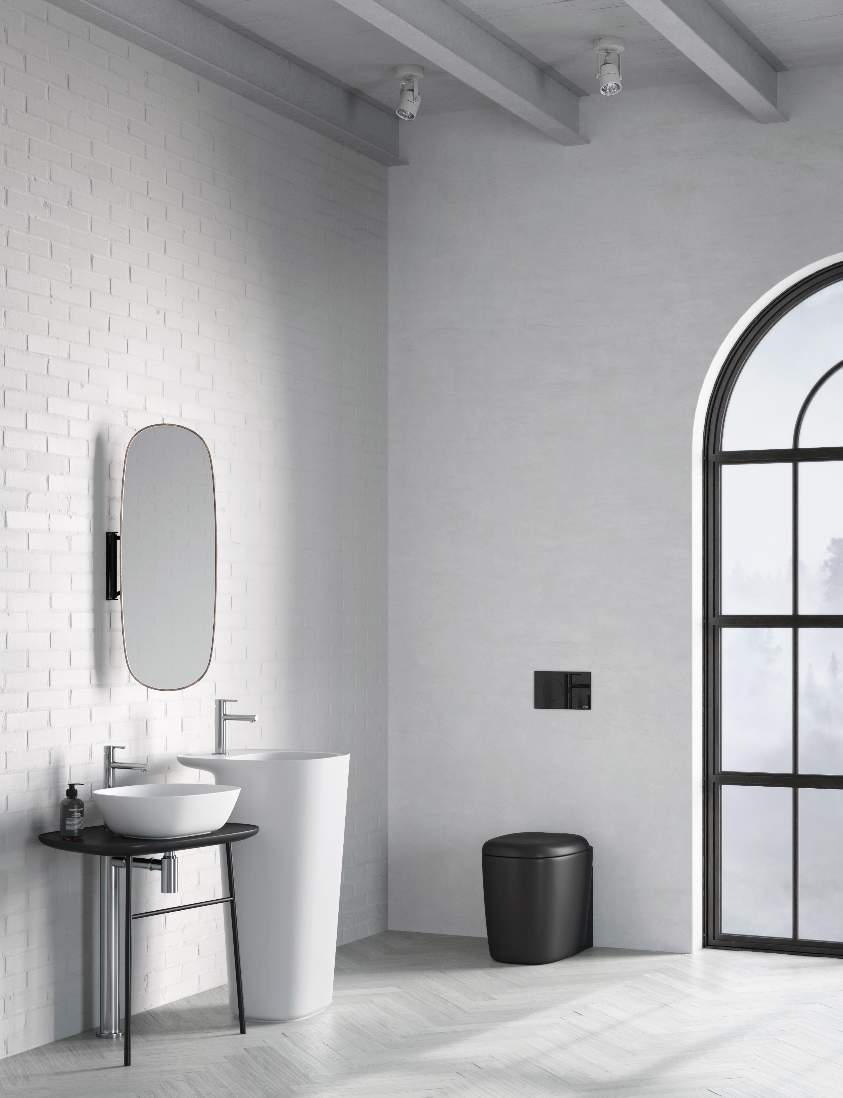 Vitra uk ltd - Salle de bain noire et blanche ...