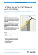 Acoustic panel for facade interface