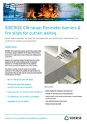 Cavity fire barriers for curtain walls