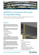 Cavity fire barriers - Suspended Ceilings