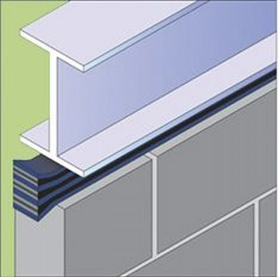 SIDERISE Linear Gap Seal for Tops of Walls (formerly Lamatherm TW-GS)
