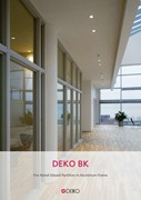 Deko BK - Fire Rated Glazed Partition in Aluminium Frame