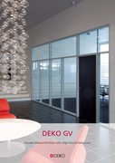 Deko GV - Double Glazed Partition with High Sound Reduction