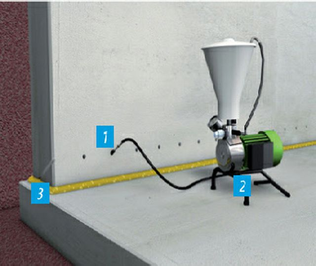Koster Waterproofing System for Construction Joints in the Wall/Floor Junction