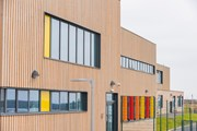 MicroShades Brunnea treated Redwood Timber Cladding Case Study - NORclad - Hakin School