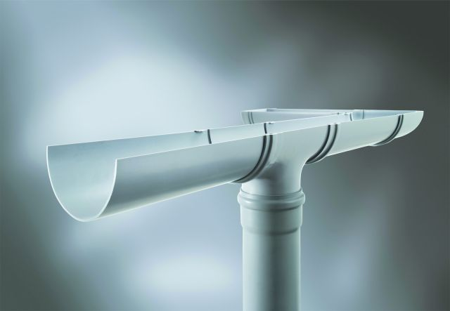 Industrial Pvcu Half Round Gutter Marley Plumbing Amp Drainage
