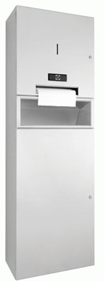 DP4110-WP5456 Dolphin Prestige Combination Paper Towel, Soap Dispenser and Waste Bin Touch Free
