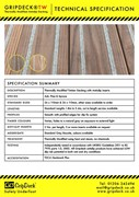 Thermally Modified Decking Technical Specification Sheet