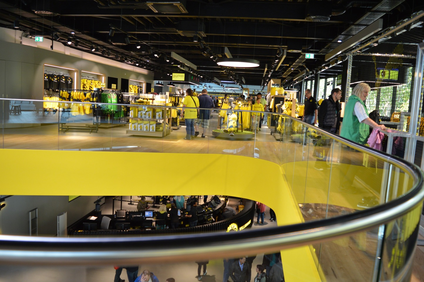 Curved glass balustrade for Signal Iduna Park football stadium