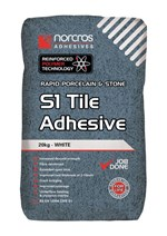 Rapid Porcelain and Stone White S1 Tile Adhesive