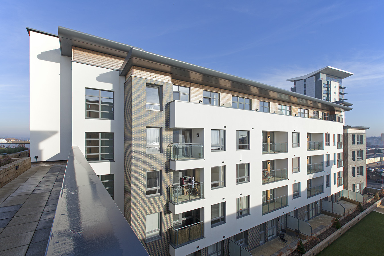 Elliptical Bullnose Aluminium Fascia and Soffit Panels for Housing in Southampton
