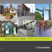 Furnitubes Combined Railings, Planters, Signage Brochure