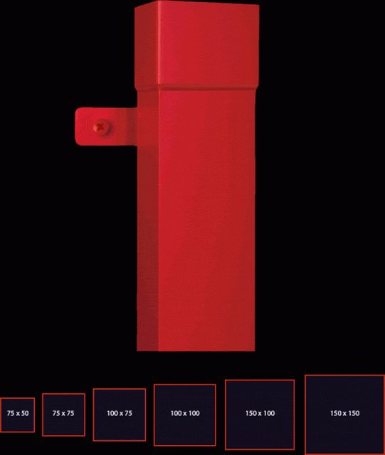 75 x 50 mm rectangular downpipe