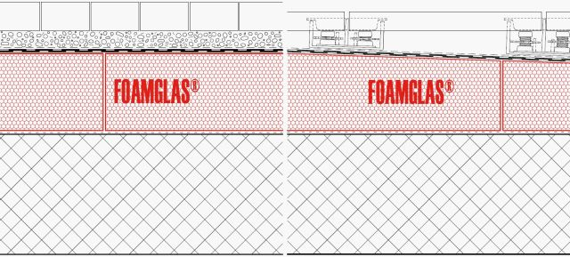 4.3.2 Roof: Flat or Tapered Insulation (Cold Adhesive) with Membranes and Paving or Blocks