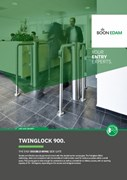 Twinglock 900 Transparent Revolving Security Barrier