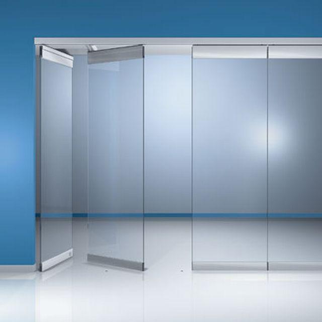 Hsw g frameless glass sliding stacking wall system dormakaba for Sliding glass wall systems