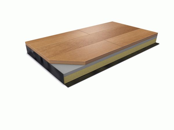Harlequin Activity floating sprung dance floor with hardwood surface