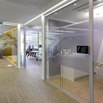 p100 Glazed Frameless Partition System