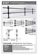 ASF Balmoral Cast Iron Post and Rail / Panel