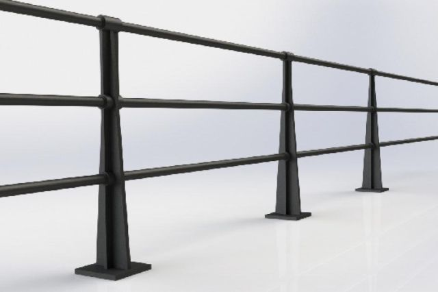 ASF Albany 3 Rail Cast Iron Post and Rail System
