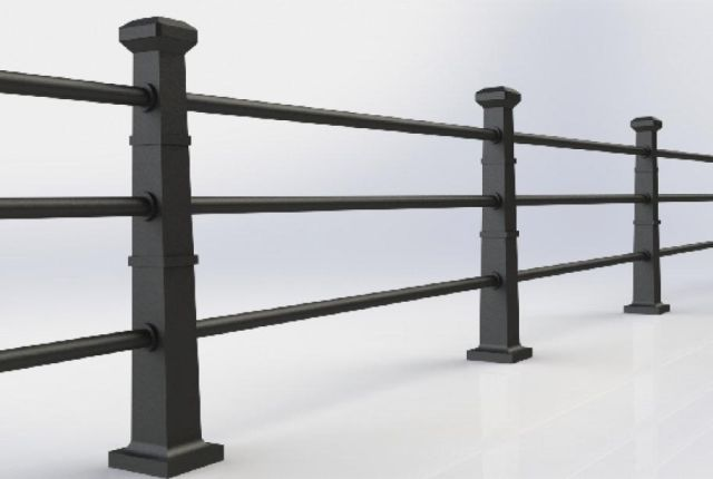 ASF Ascot 3 Rail Cast Iron Post and Rail System