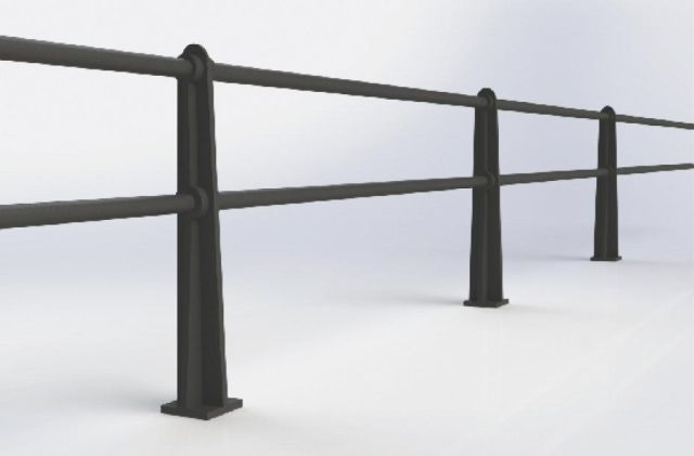 ASF Beaumont 2 Rail Cast Iron Post and Rail System