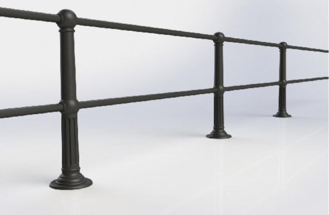 ASF Belgrave 2 Rail Cast Iron Post and Rail System
