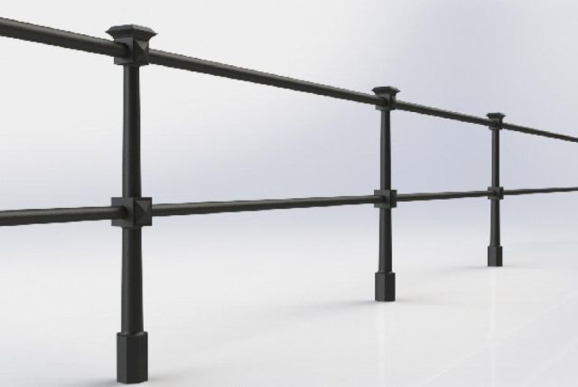 ASF Berkeley 2 Rail Cast Iron Post and Rail System