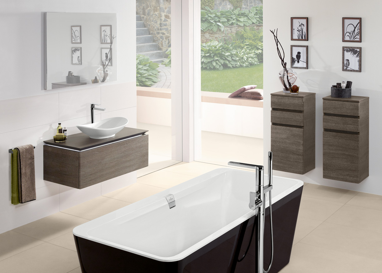 Villeroy boch uk bathroom kitchen tiles division for Salle de bain douche baignoire double vasque