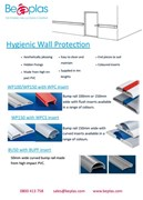 Beplas Hygienic Bump Rails and Wall Protection
