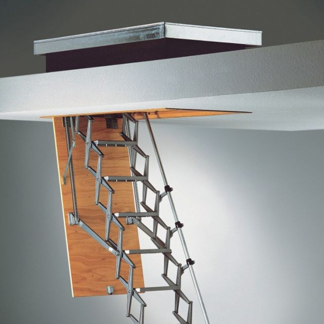 Folding Concertina Heavy Duty Roof Access Loft Ladder