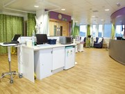 Forest fx flooring adds a natural feel to the Greenlea Oncology Unit