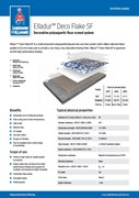 Resin flooring Elladur Deco Flake SF system